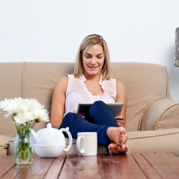 Email Marketing Email Marketing / Newsletter Design - bigstock Woman at home relaxing on sofa 80759675 259x259 c