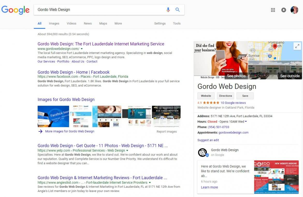 Google Local Business Knowledge Panel Not Showing – Try This Fix By Gordo Web Design - Google Local Business Knowledge Panel Not Showing try this trick by gordo web design csml 1170x763