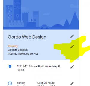 Google Local Business Knowledge Panel Not Showing – Try This Fix By Gordo Web Design - Google Local Business Knowledge Panel Not Showing try this trick by gordo web design screen shot 300x288